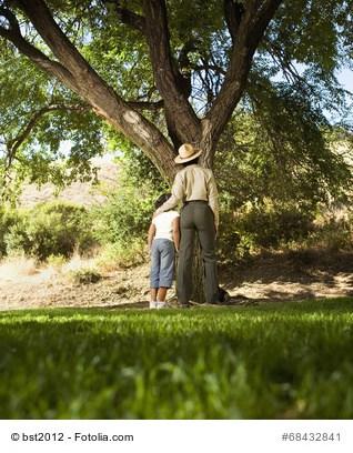 Vater, Sohn, Baum