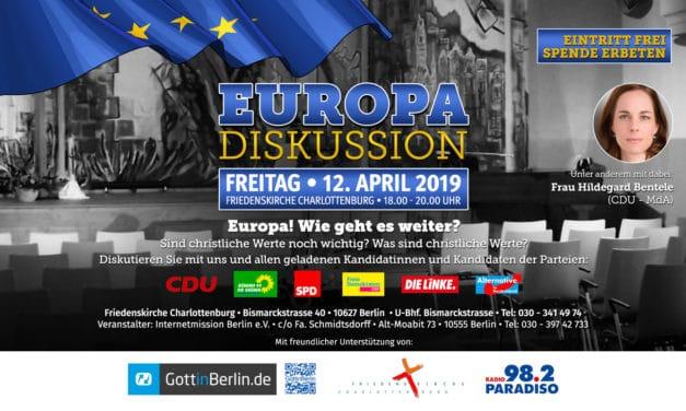Europadiskussion | Moderator Uwe Heimowski
