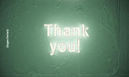 Danke – für was?
