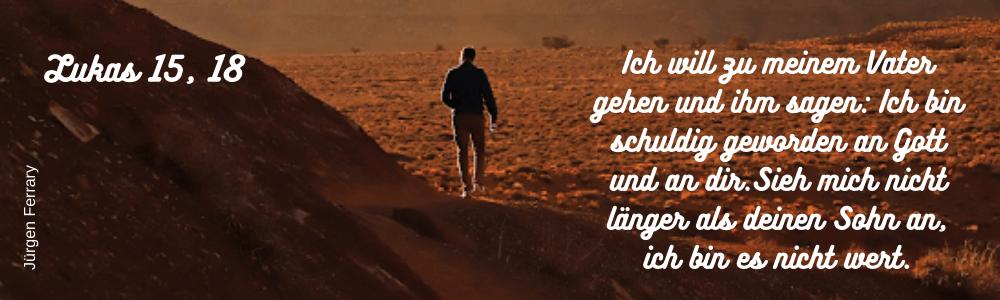 Einsamer Mann - Wüste - Berg