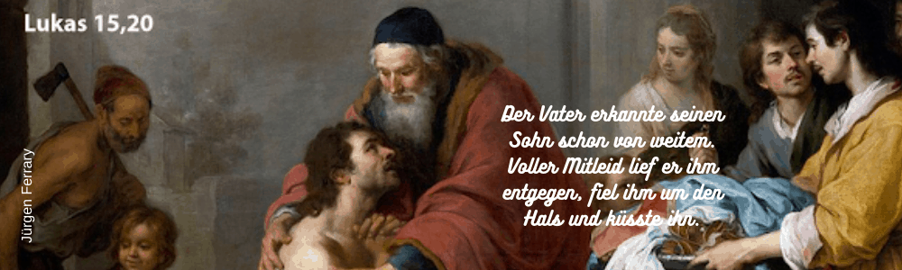 Der Vater hält seinen Sohn im Arm