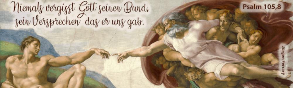 Gemälde Gott und Mensch