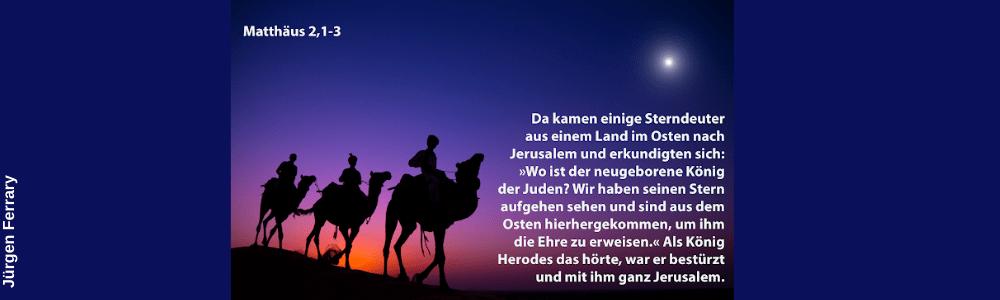 3 Männer auf Kamelen auf den Weg nach Bethlehem
