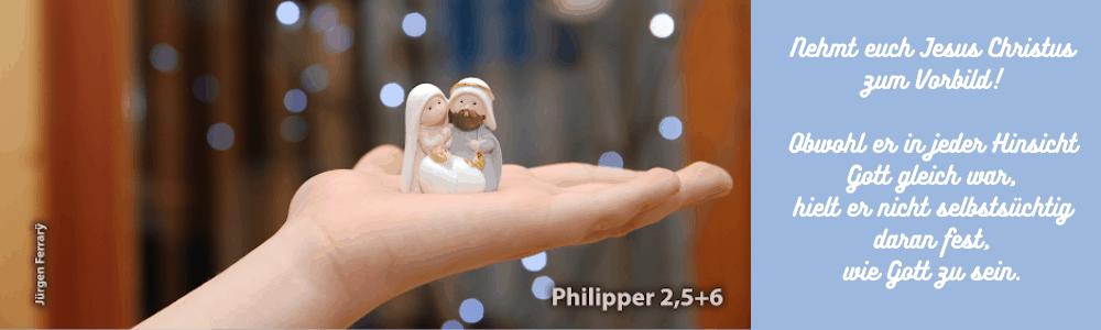 Auf der Hand Krippefigur Maria-Jesus-Josef