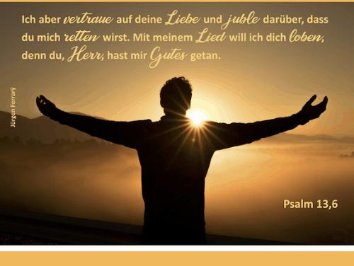 Nach dem Glauben von David ausstrecken