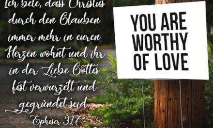 Erkenne Gottes Liebe für dich!