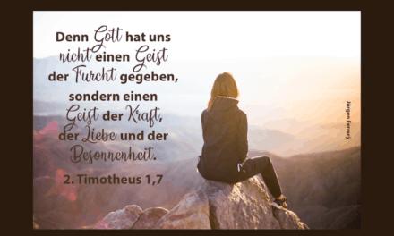 Entscheide dich für den Glauben und gegen die Furcht