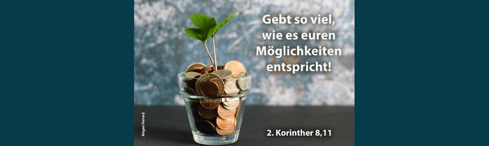 Münzen in einem Glas
