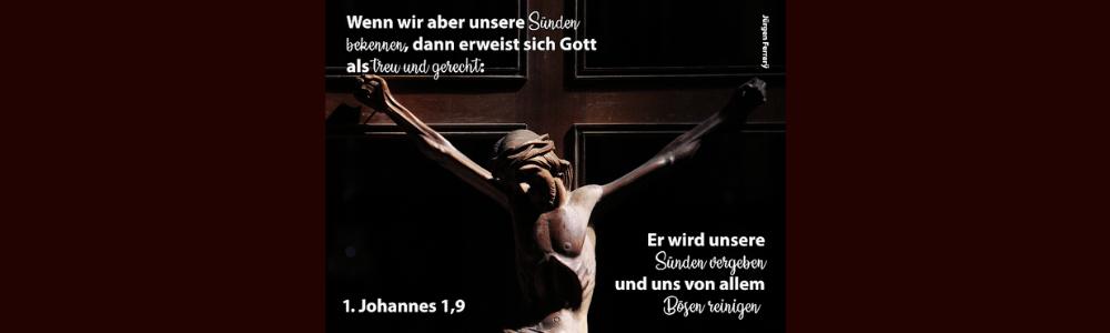Jesus am Kreuz mit Dornenkrone