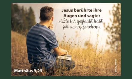 Was traust du in deinem Leben Jesus zu?