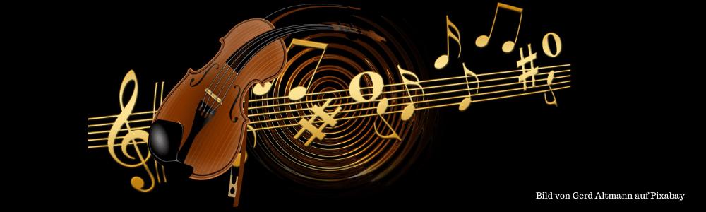 Violine abstrakt mit Noten
