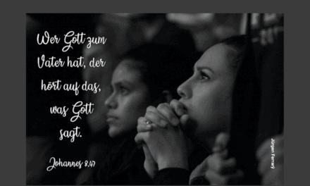 Hast du Ohren, um zu hören, was Gott zu sagen hat?