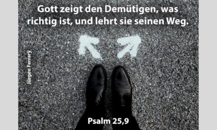 Gott liebt dich und hat einen Plan für dein Leben