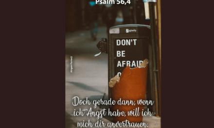 Wenn Angst und Panik dich befallen