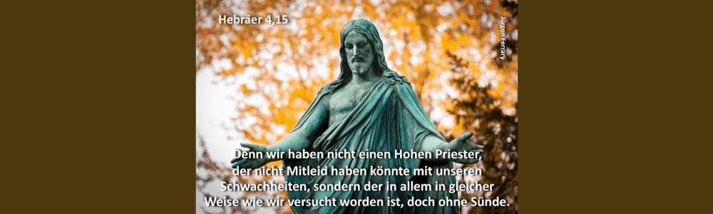 Statue Jesus im Park