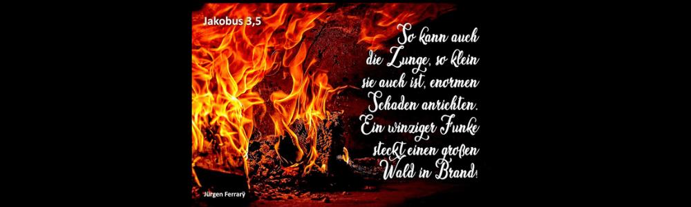 Waldbrand - großes, loderndes Feuer