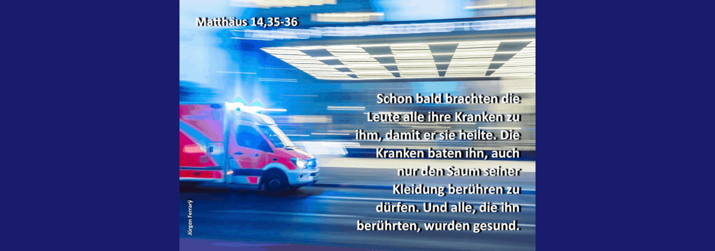 Feuerwehr fählt in die Krankenhaushalle