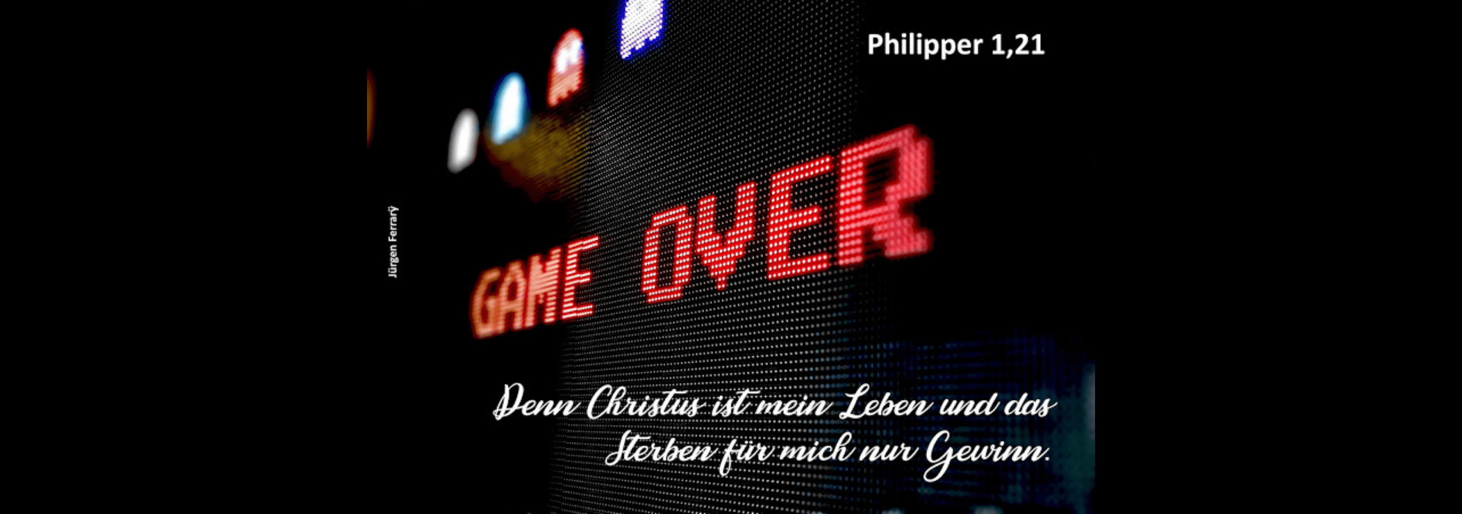 rote Leuchtreklame - Game over