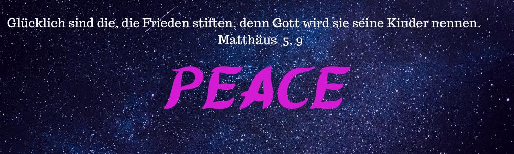 Pink Schriftzug Peace